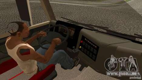 KAMAZ 5460 Euro 3420 Turbo pour GTA San Andreas vue intérieure