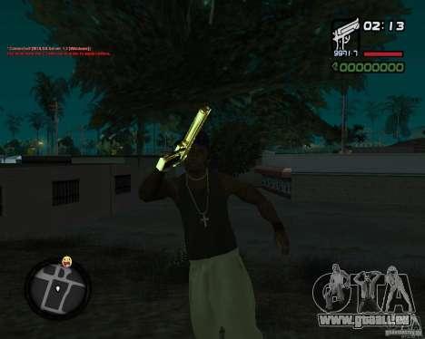 Desert Eagle GOLD pour GTA San Andreas troisième écran
