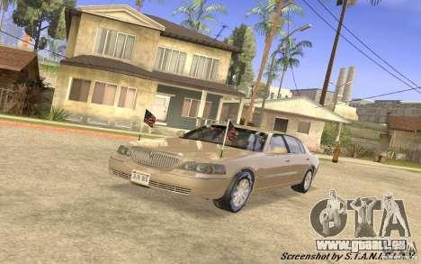 Lincoln Towncar Secret Service pour GTA San Andreas