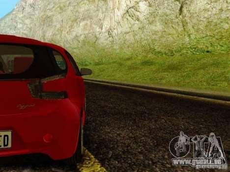 Aston Martin Cygnet pour GTA San Andreas vue de droite