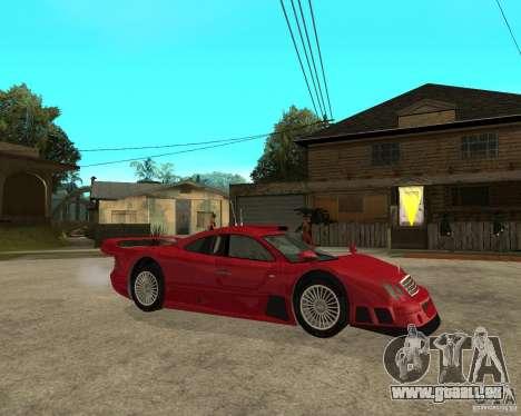 Mercedes-Benz CLK GTR road version pour GTA San Andreas vue de droite