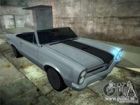 Pontiac GTO 1965 pour GTA San Andreas sur la vue arrière gauche
