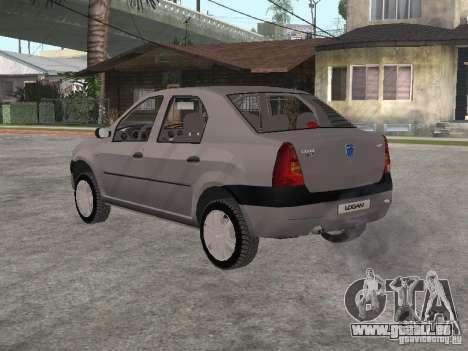 Dacia Logan 1.6 für GTA San Andreas rechten Ansicht
