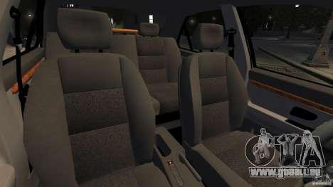 Peugeot 406 Taxi pour GTA 4 est une vue de l'intérieur