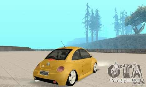 Volkswagen New Beetle GTi 1.8 Turbo pour GTA San Andreas laissé vue