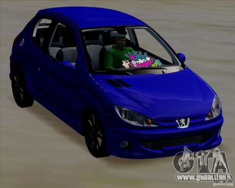 Peugeot 206 pollo style für GTA San Andreas rechten Ansicht