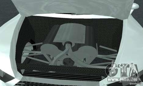 Audi Quattro Concept 2013 für GTA San Andreas Innenansicht