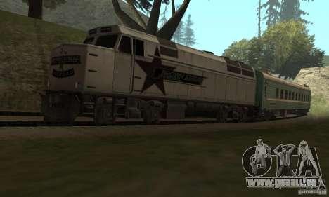 La voiture des chemins de fer russes 2 pour GTA San Andreas vue de droite