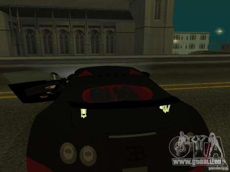 Bugatti Veyron Super Sport für GTA San Andreas Innenansicht