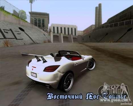 Saturn Sky Roadster pour GTA San Andreas vue de dessous