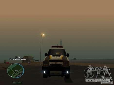 Chevrolet Blazer für GTA San Andreas Rückansicht