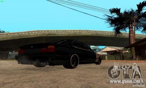 BMW 525 pour GTA San Andreas sur la vue arrière gauche