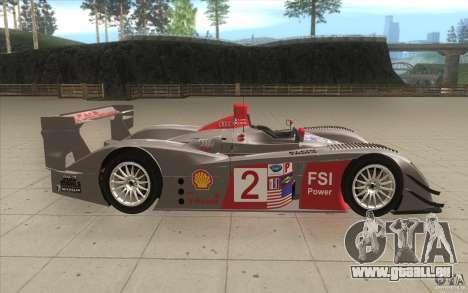 Audi R10 LeMans - Stock für GTA San Andreas Innenansicht