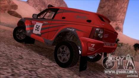 Range Rover Bowler Nemesis pour GTA San Andreas laissé vue