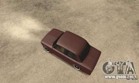 VAZ 2106 Street Style pour GTA San Andreas sur la vue arrière gauche