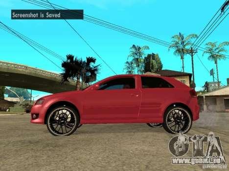 Audi S3 2006 Juiced 2 pour GTA San Andreas laissé vue