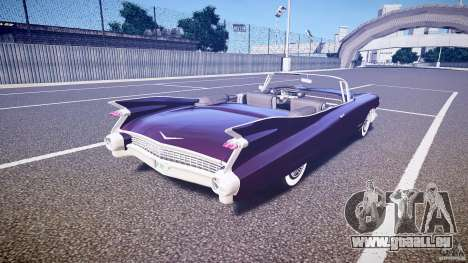 Cadillac Eldorado 1959 interior black für GTA 4 obere Ansicht