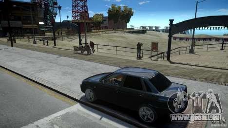 Lada Priora Light Tuning pour GTA 4 est une vue de l'intérieur