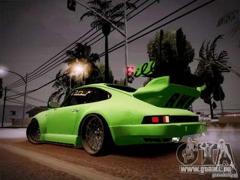 Porsche 911 Turbo RWB Pandora One pour GTA San Andreas sur la vue arrière gauche