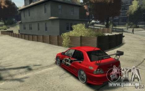 Mitsubishi Lancer pour GTA 4 Vue arrière de la gauche