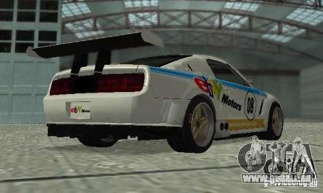 Ford Mustang GT-R pour GTA San Andreas vue intérieure