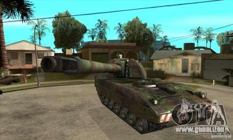 Panzerhaubitze 2000 für GTA San Andreas Rückansicht