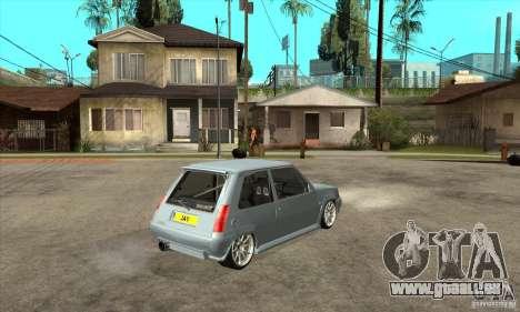 Renault 5 Tuned pour GTA San Andreas vue de droite