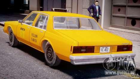 Chevrolet Impala Taxi 1983 [Final] für GTA 4 Unteransicht