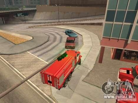 Camion de pompier ZIL pour GTA San Andreas vue de droite