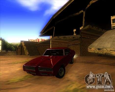 Pontiac GTO 1969 pour GTA San Andreas vue de dessus