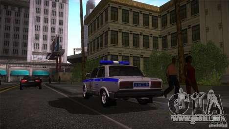 VAZ 2107 PPP Arzamas pour GTA San Andreas laissé vue