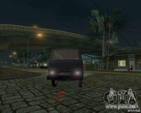 Volkswagen Transporter T3 für GTA San Andreas obere Ansicht