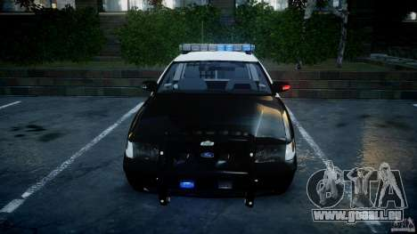 Ford Crown Victoria SFPD K9 Unit [ELS] pour GTA 4 est une vue de dessous