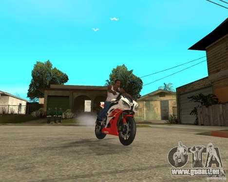 Yamaha YFZ R6 pour GTA San Andreas vue de côté