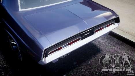 Dodge Challenger 1971 für GTA 4 Rückansicht