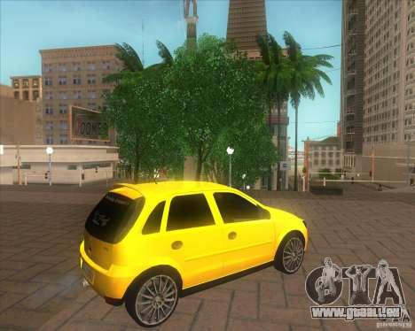 Opel Corsa C 2004 Deutsch style pour GTA San Andreas laissé vue
