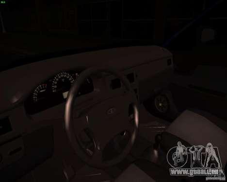 VAZ-2172 Restajl pour GTA San Andreas vue intérieure