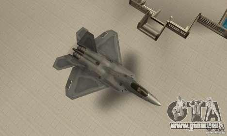 F-22 Grey pour GTA San Andreas vue de droite