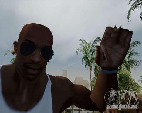 Bleus lunettes aviateur pour GTA San Andreas troisième écran