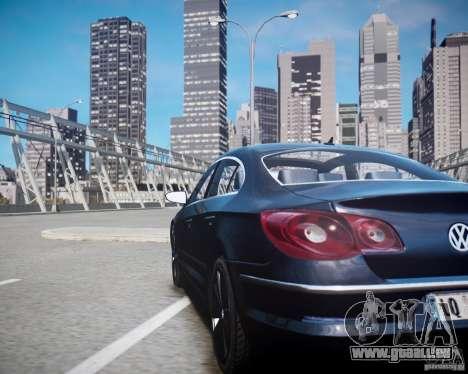 Volkswagen Passat CC pour GTA 4 est une vue de l'intérieur