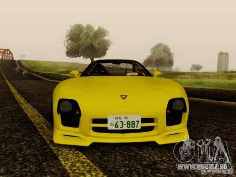 Mazda FD3S - Mazdaspeed A-Spec pour GTA San Andreas sur la vue arrière gauche