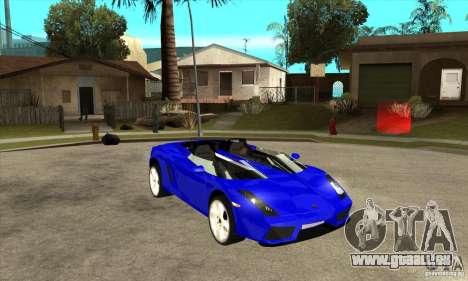 Lamborghini Concept S für GTA San Andreas Seitenansicht