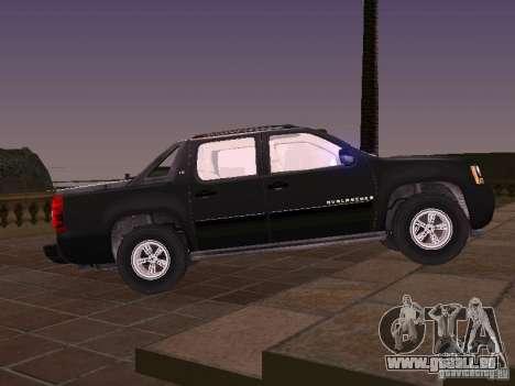 Chevrolet Avalanche pour GTA San Andreas laissé vue