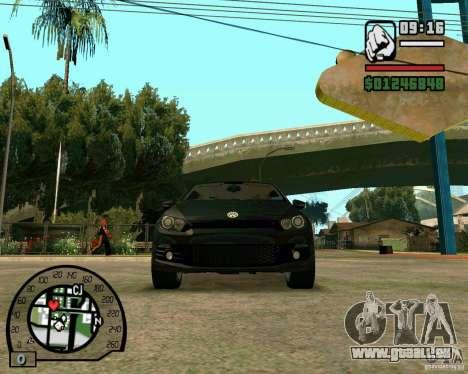 Volswagen Scirocco pour GTA San Andreas vue intérieure
