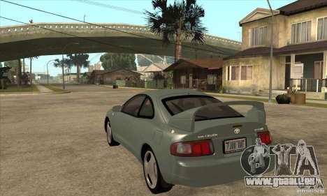 Toyota Celica GT-Four pour GTA San Andreas sur la vue arrière gauche