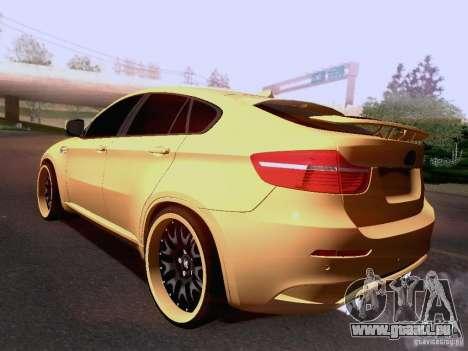 BMW X6M Hamann für GTA San Andreas Innen