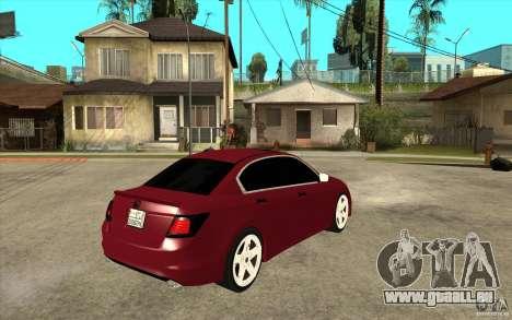 Honda Accord 2008 v2 pour GTA San Andreas vue de droite