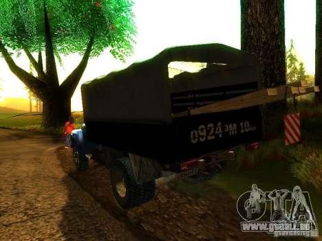 ZIL 431410 pour GTA San Andreas laissé vue