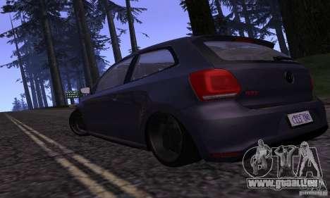 Volkswagen Polo GTI Stanced pour GTA San Andreas sur la vue arrière gauche