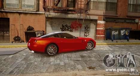 Ferrari 599 GTB pour GTA 4 Vue arrière de la gauche